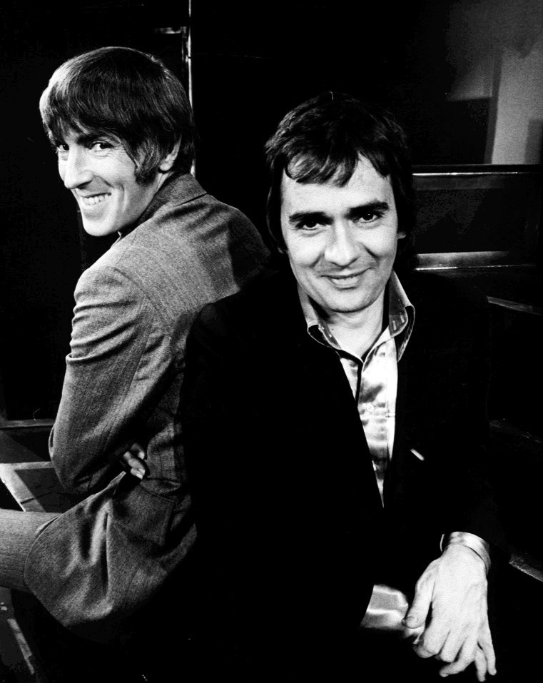 Peter Cook & Dudley Moore at the Good Evening Show, 1974