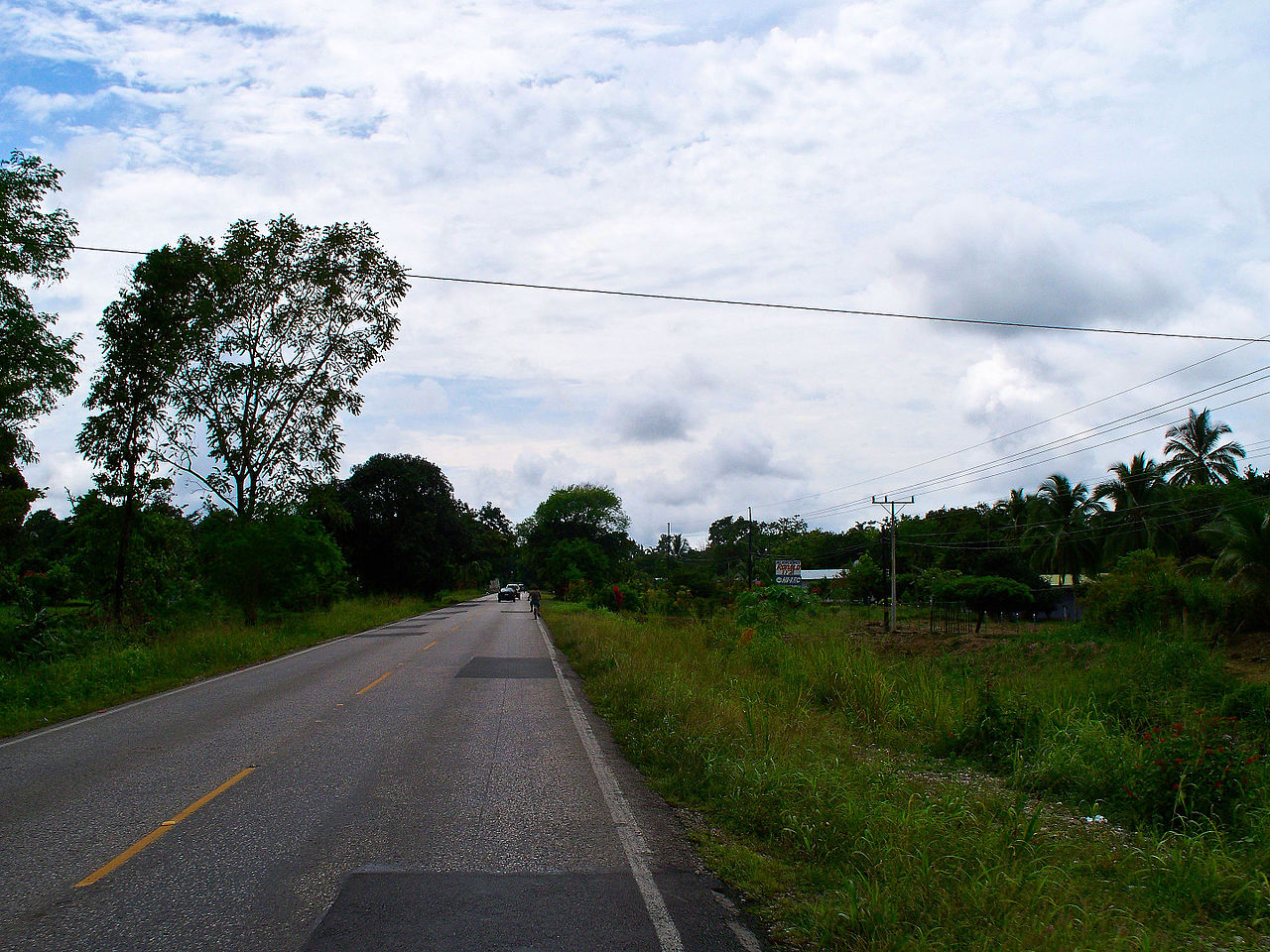Road to Paso Canoas, Costa Rica