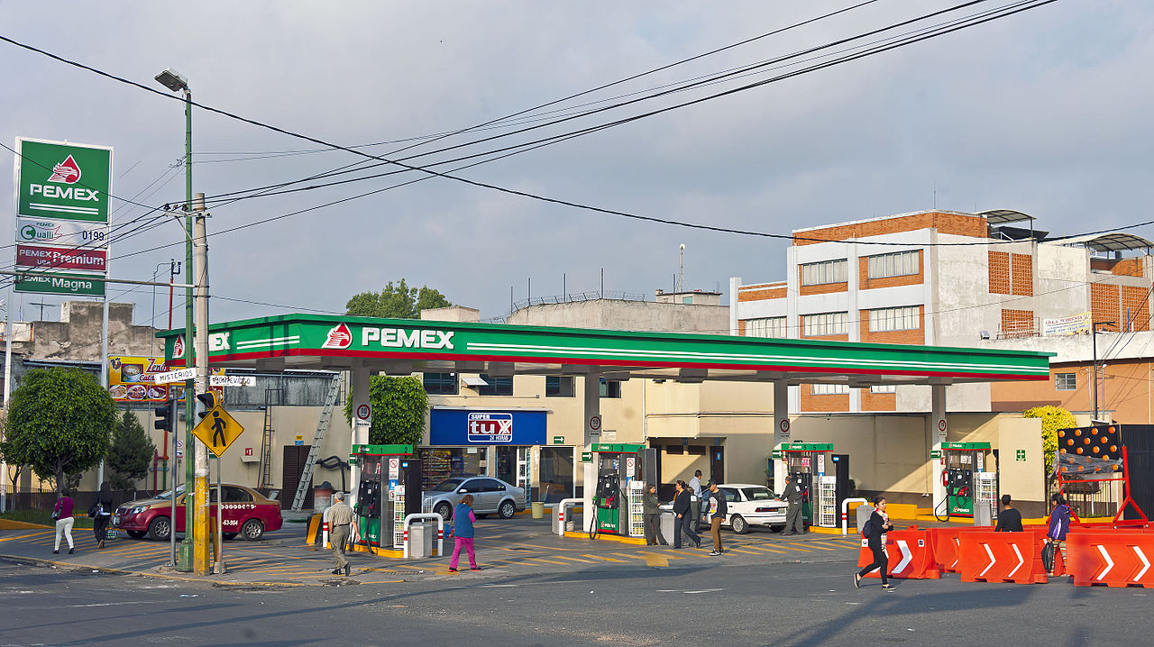 PEMEX Gas Station in Mexico