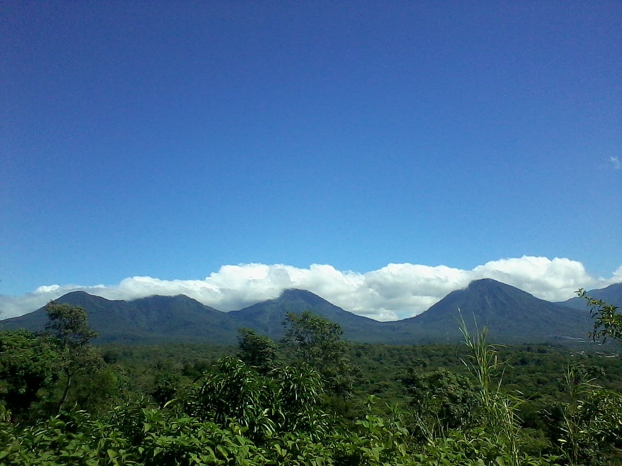 Mountain Range in Salcoatitlan, El Salvador