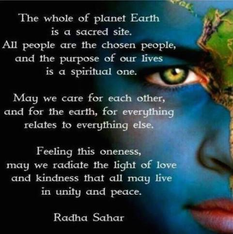 Planet Earth is a Sacred Site