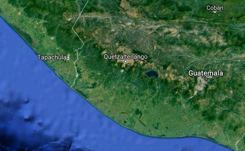 geographical location of Tapachula, Mexico
