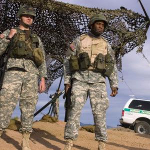 USA agents patrol the Mexico border